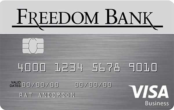 Freedom Bank Visa Chip Cards
